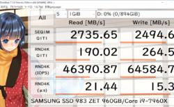 SAMSUNG SSD 983 ZET 960GB レビュー