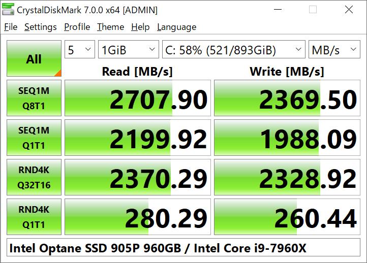 Full CrystalDiskMark Portable screenshot