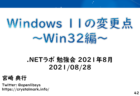 Windows 11の変更点 ~Win32編~