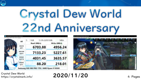 【祝】Crystal Dew World 22周年